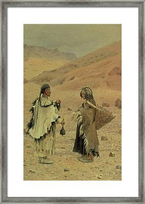 West Tibetans, 1875 Oil On Canvas Framed Print by Piotr Petrovitch Weretshchagin