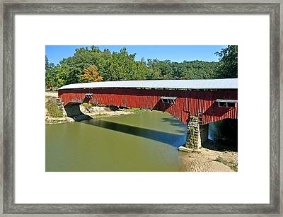 West Union Covered Bridge 2 Framed Print by Marty Koch
