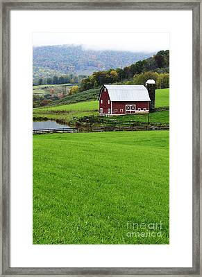 West Virginia Farm In Fall Framed Print by Thomas R Fletcher