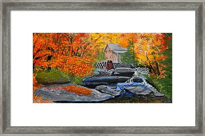 West Virginia Grist Mill Framed Print by William Tremble