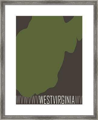 West Virginia State Modern Framed Print by Flo Karp