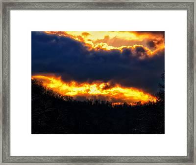 West Virginia Winter Sunset Framed Print by Chris Flees