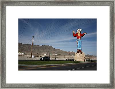 West Wendover Nevada Framed Print by Frank Romeo