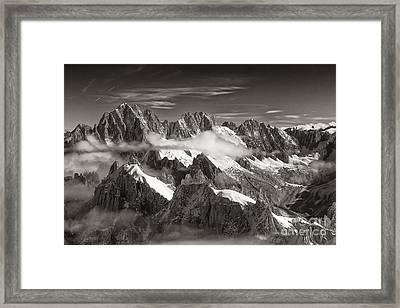 Western Alps - Panorama Framed Print by Juergen Klust