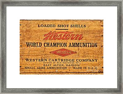 Western Ammunition Box Framed Print by Olivier Le Queinec