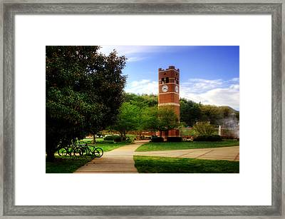Western Carolina University Alumni Tower Framed Print by Greg and Chrystal Mimbs