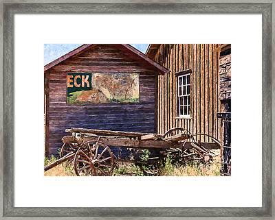 Western Colorado History Framed Print by Janice Rae Pariza