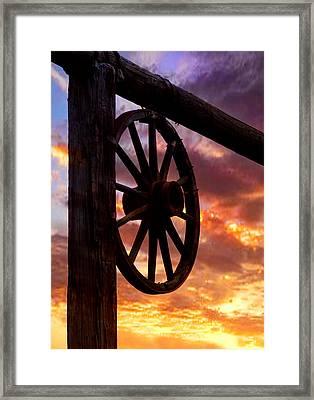 Western Gate Framed Print by Mike Flynn