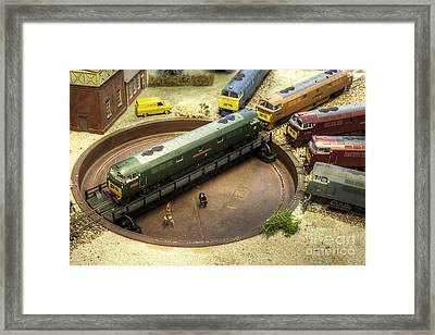 Western Gathering  Framed Print by Rob Hawkins