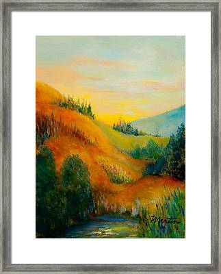Western Hills Framed Print by Larry Martin