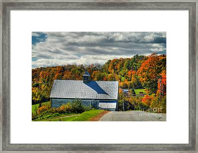 Western Maine Barn Framed Print by Alana Ranney