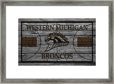 Western Michigan Broncos Framed Print by Joe Hamilton