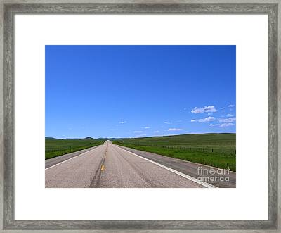 Western Road Framed Print by Olivier Le Queinec
