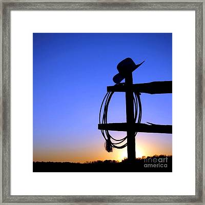 Western Sunset Framed Print by Olivier Le Queinec