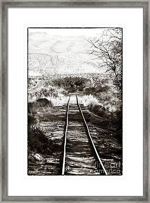 Western Tracks Framed Print by John Rizzuto