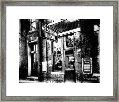 Western Union Redux Framed Print by Cris Hayes