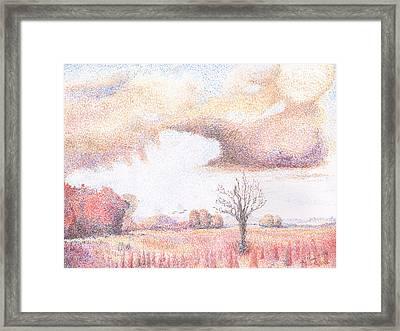 Western Vista - Rain Framed Print by William Killen