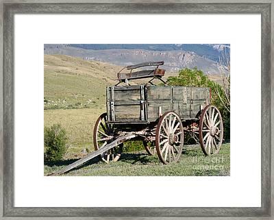 Western Wagon Framed Print by Sabrina L Ryan