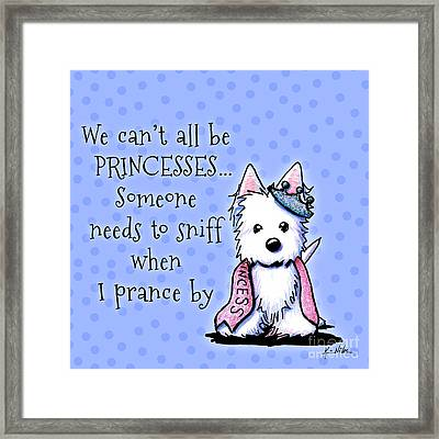 Westie Princess Framed Print by Kim Niles
