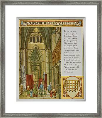 Westminster Abbey Framed Print by British Library