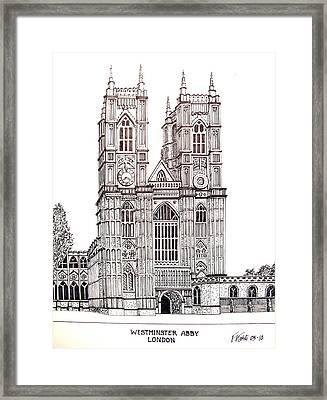 Westminster Abby - London Framed Print by Frederic Kohli