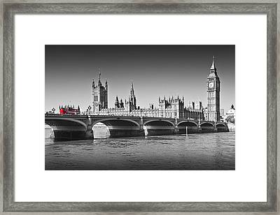 Westminster Bridge Framed Print by Melanie Viola