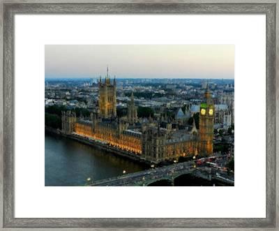 Westminster Palace Da 01 Framed Print by Lance Vaughn