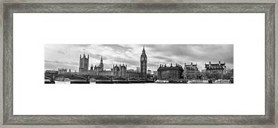 Westminster Panorama Framed Print by Heather Applegate
