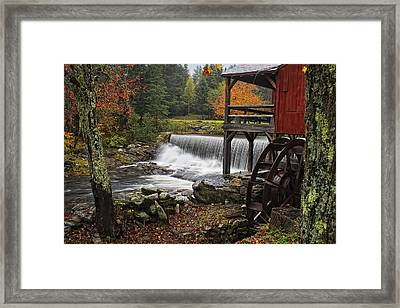 Weston Grist Mill Framed Print by Priscilla Burgers