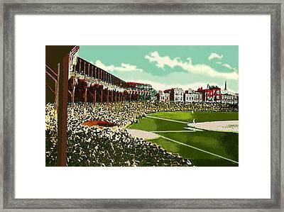 Westside Park Baseball Stadium In Chicago Il In 1914 Framed Print by Dwight Goss