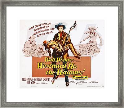 Westward Ho, The Wagons Us Lobbycard Framed Print by Everett