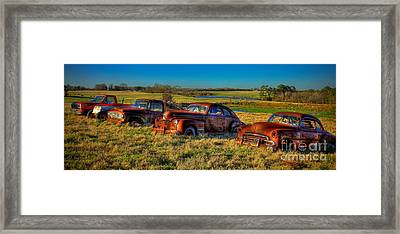 Westward Line Up 2 Framed Print by Reid Callaway
