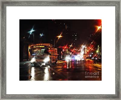 Wet City 4 Framed Print by Sarah Loft
