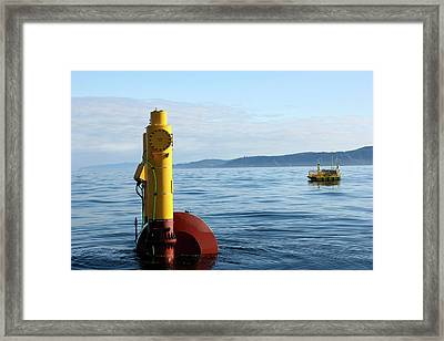 Wet-nz Wave Energy Converter Being Tested Framed Print by Northwest Energy Innovations/us Department Of Energy