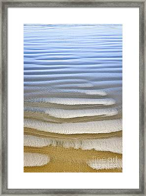 Wet Sand Texture On Ocean Shore Framed Print by Elena Elisseeva