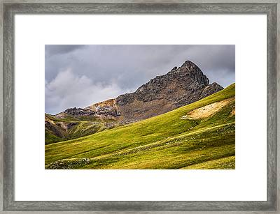 Wetterhorn Peak Framed Print by Aaron Spong