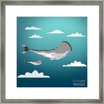 Whale 7 Framed Print by Mark Ashkenazi
