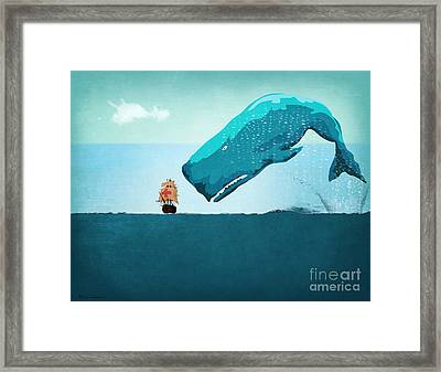 Whale Framed Print by Mark Ashkenazi