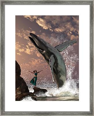Whale Watcher Framed Print by Daniel Eskridge