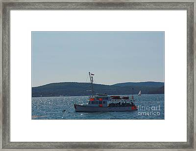 Whale Watching At Bar Harbor Framed Print by Dora Sofia Caputo Photographic Art and Design
