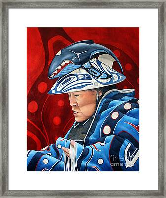 Whale Woman Framed Print by Joey Nash
