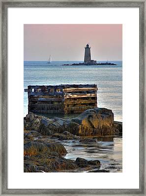 Whaleback Lighthouse Framed Print by Brett Pelletier