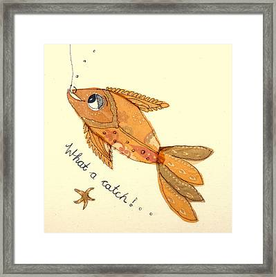 What A Catch Framed Print by Hazel Millington