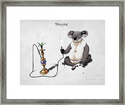 What A Drag Framed Print by Rob Snow