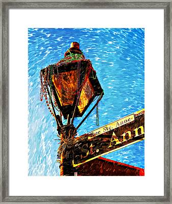 What A Party Painted Framed Print by Steve Harrington