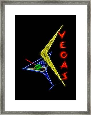 What Happens In Vegas Framed Print by Aged Pixel