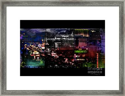What Happens In Vegas... Framed Print by Christine Mayfield