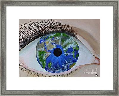 What I See Framed Print by Kat Oravcova