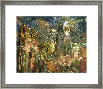 What Is Behind That Curtain? Framed Print by Kenneth Hadlock