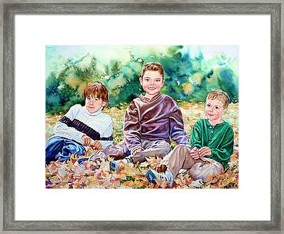 What Leaf Fight Framed Print by Hanne Lore Koehler